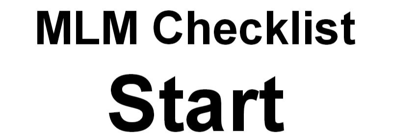 MLM Checklist Start